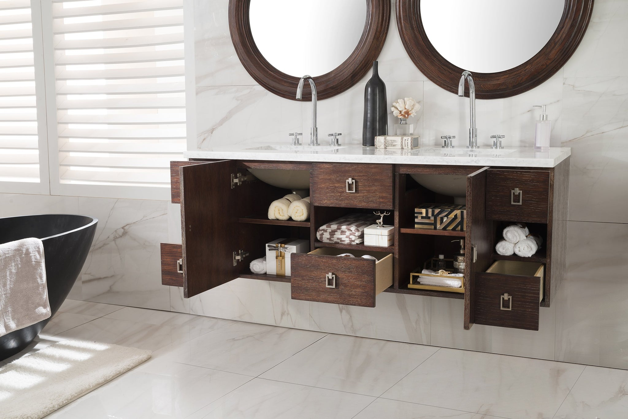 "Sonoma 60"" Double Bathroom Vanity Double bathroom Vanity James Martin Vanities"