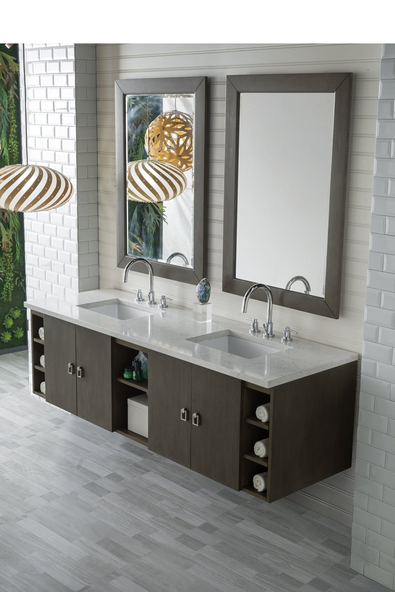 "Sonoma 72"" Double Bathroom Vanity Double bathroom Vanity James Martin Vanities"