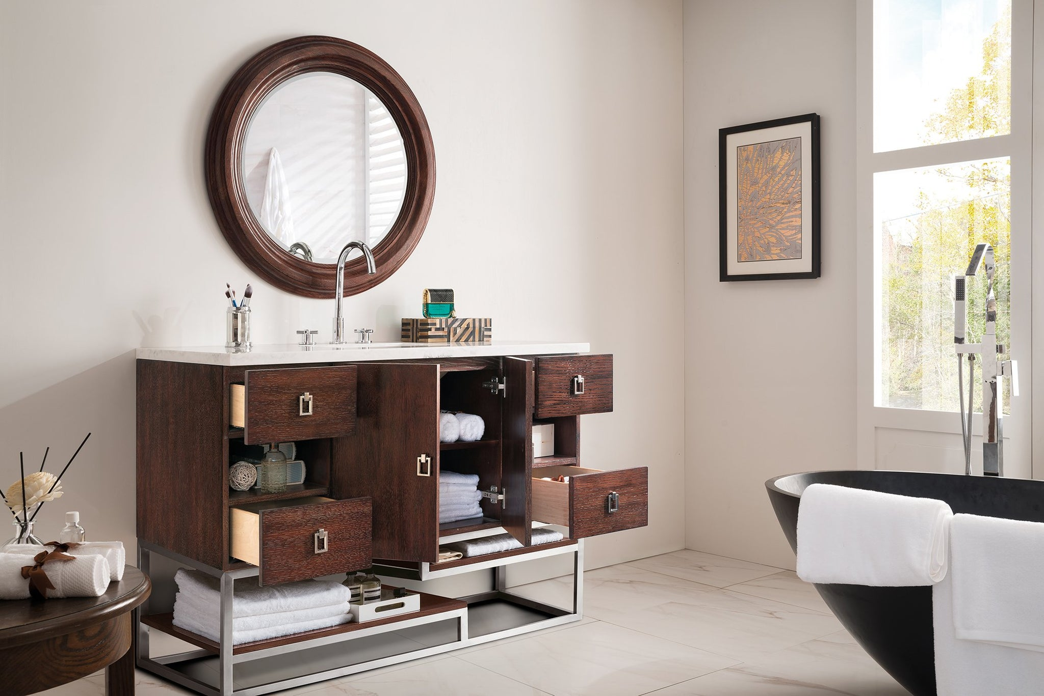 "Sonoran 48"" Single Vanity, Coffee Oak Single Bathroom Vanity James Martin Vanities"