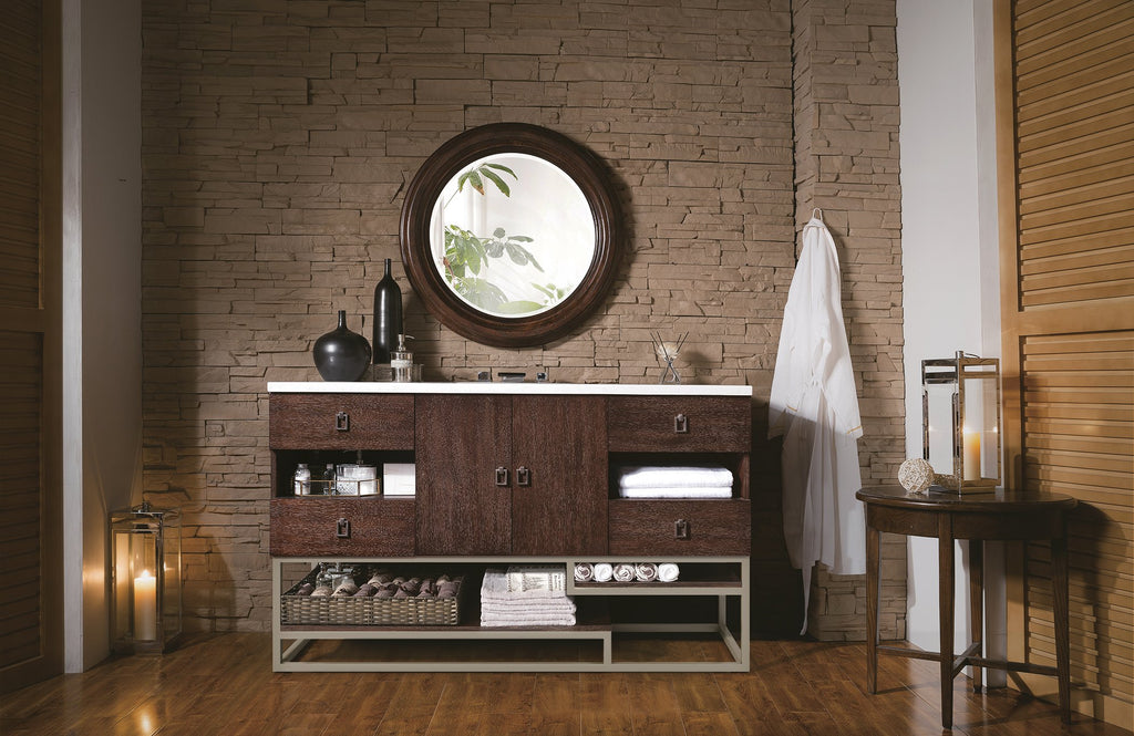 "Sonoran 60"" Single Bathroom Vanity, Coffee Oak"