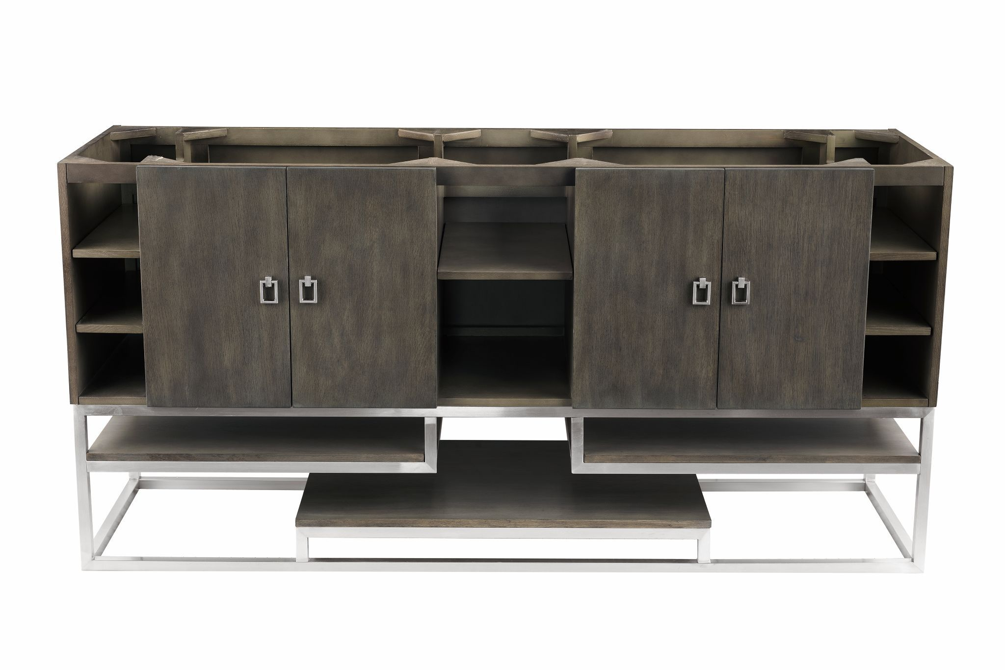 "Sonoran 72"" Double Bathroom Vanity, Silver Oak Double bathroom Vanity James Martin Vanities"