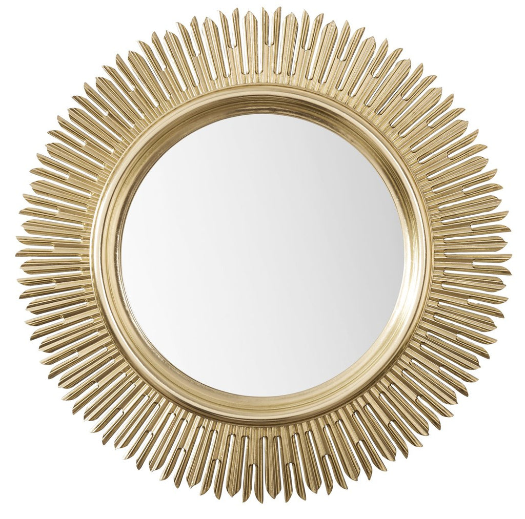 "Sunburst 42"" Mirror, Antique Silver"