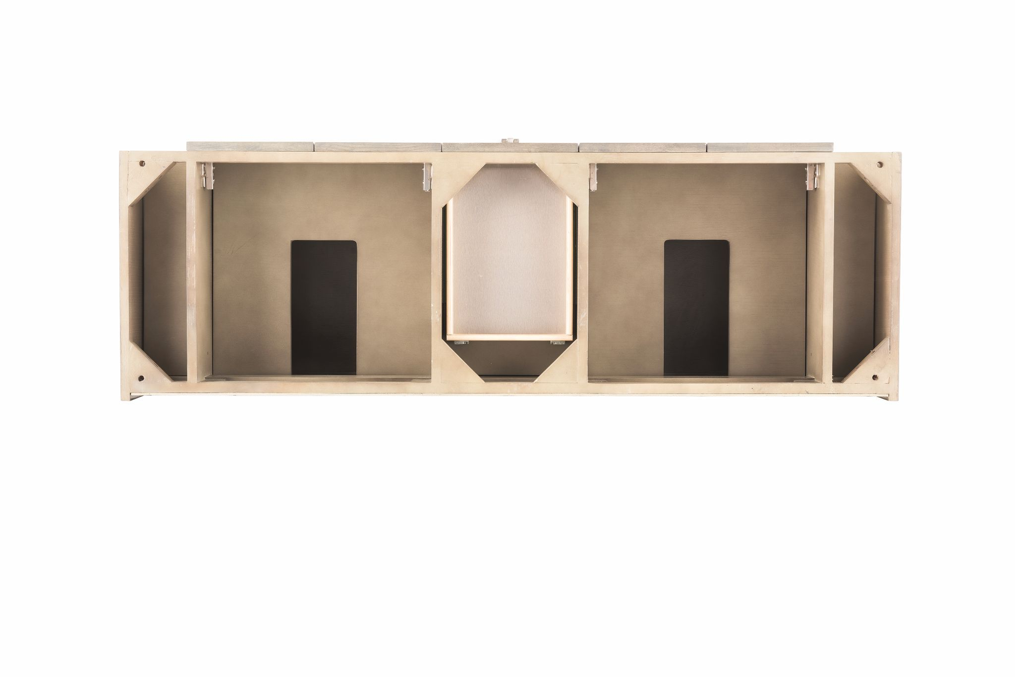 "Tahoe 59"" Double Bathroom Vanity, Silver Oak Double bathroom Vanity James Martin Vanities"