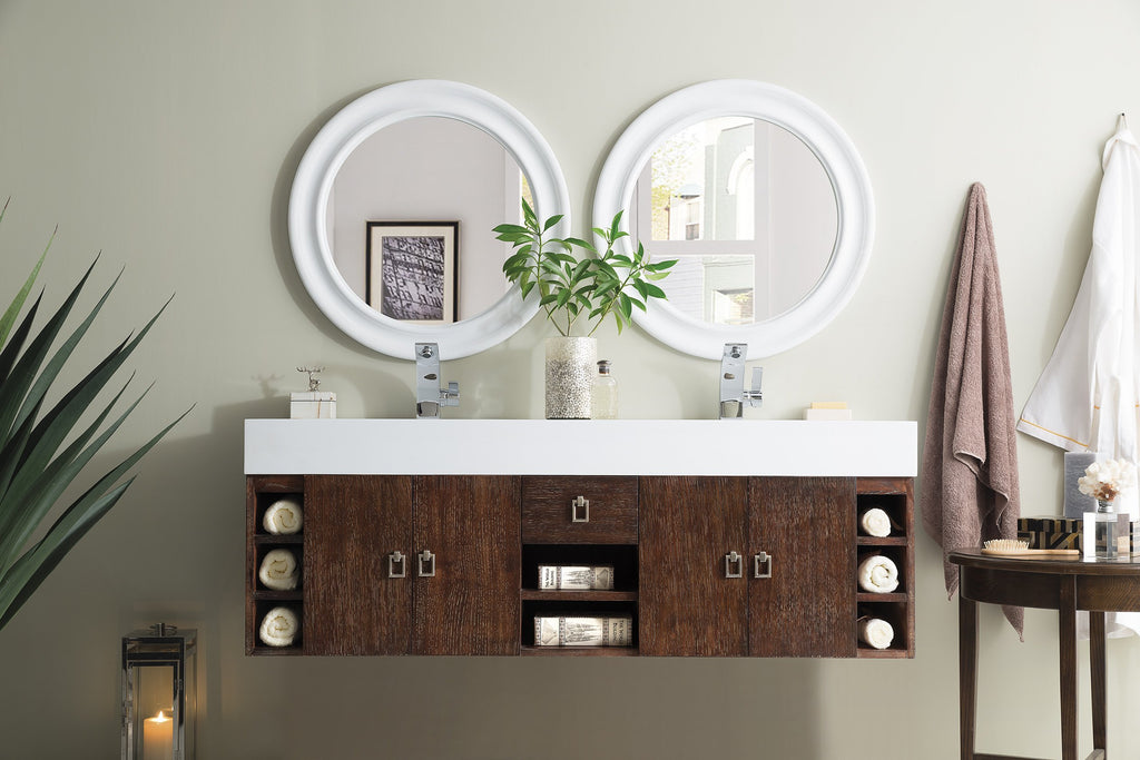 "Tiburon 59"" Double Bathroom Vanity, Coffee Oak"