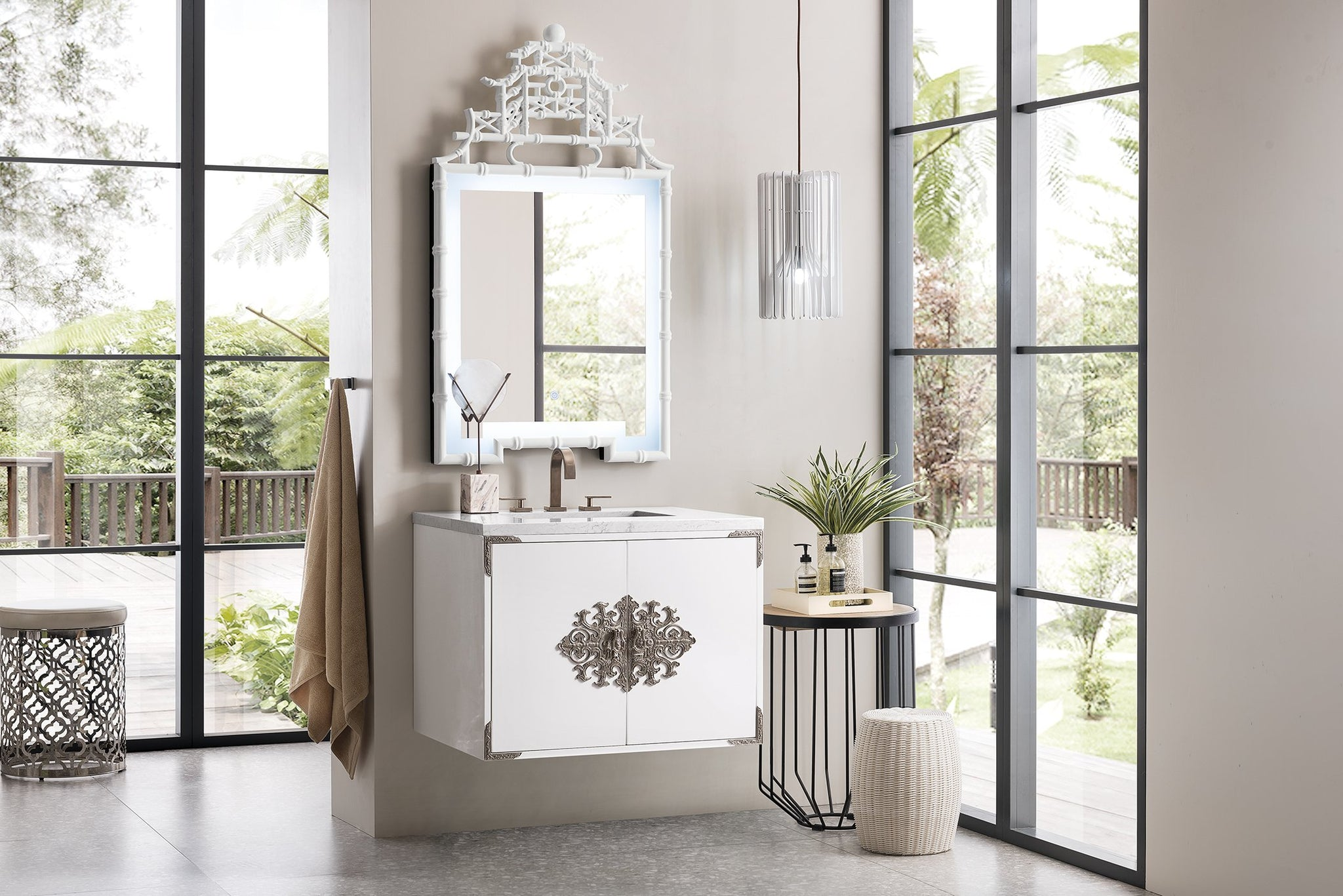 "Ventura 30"" Single Vanity, Glossy White Single Bathroom Vanity James Martin Vanities"