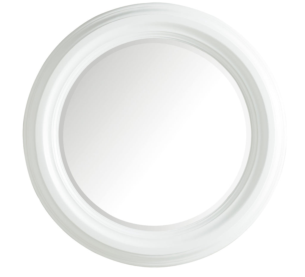 "Victoria 33"" Round Mirror, Cottage White"
