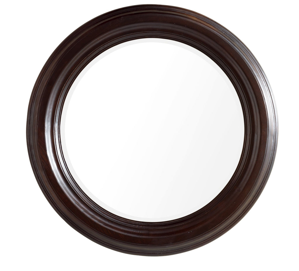 "Victoria 33"" Round Mirror, Twilight Burl"