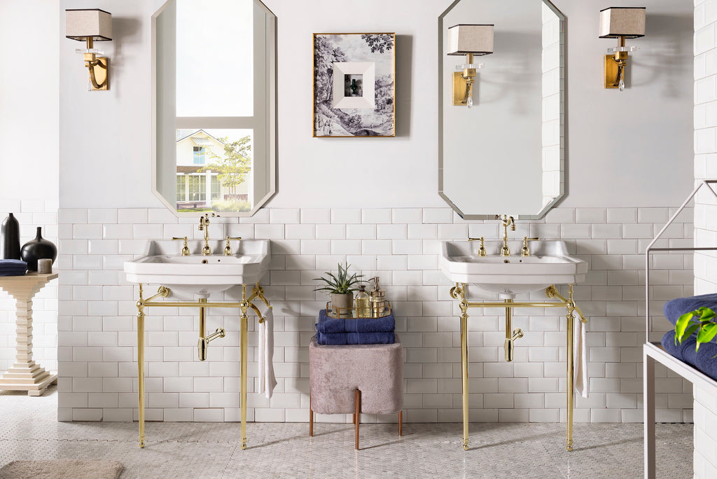 "Wellington 24"" Single Bathroom Vanity Brass Finish"