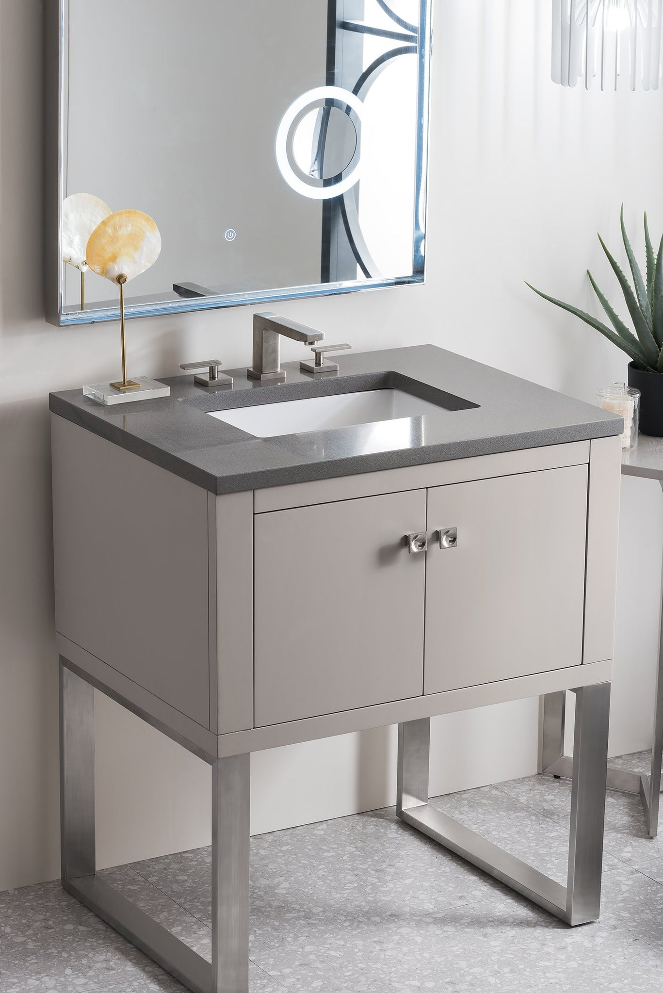"Westlake 30"" Single Vanity, Mountain Mist Single Bathroom Vanity James Martin Vanities"