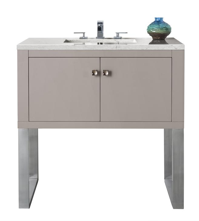 "Westlake 36"" Single Vanity, Mountain Mist Single Bathroom Vanity James Martin Vanities"