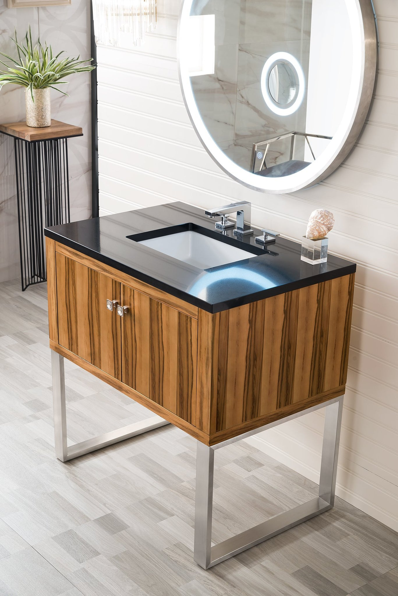 "Westlake 36"" Single Vanity, Natural Applewood Single Bathroom Vanity James Martin Vanities"