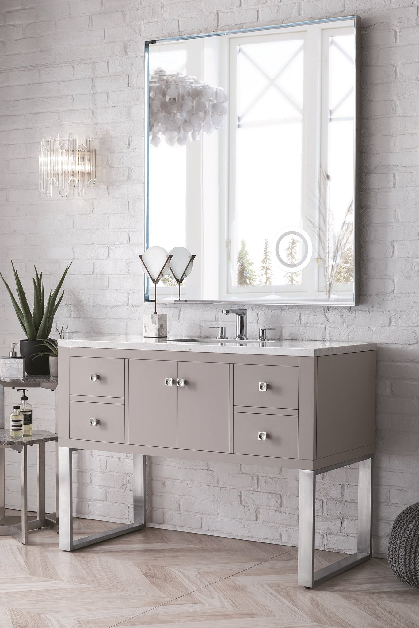 "Westlake 48"" Single Vanity, Mountain Mist Single Bathroom Vanity James Martin Vanities"
