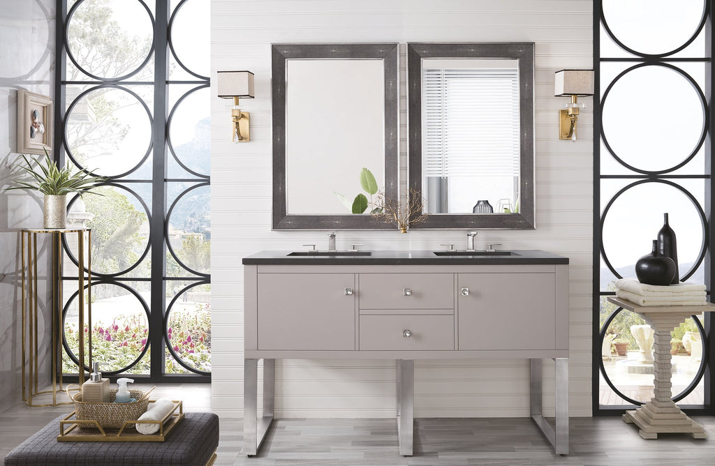 "Westlake 60"" Double Bathroom Vanity, Mountain Mist"