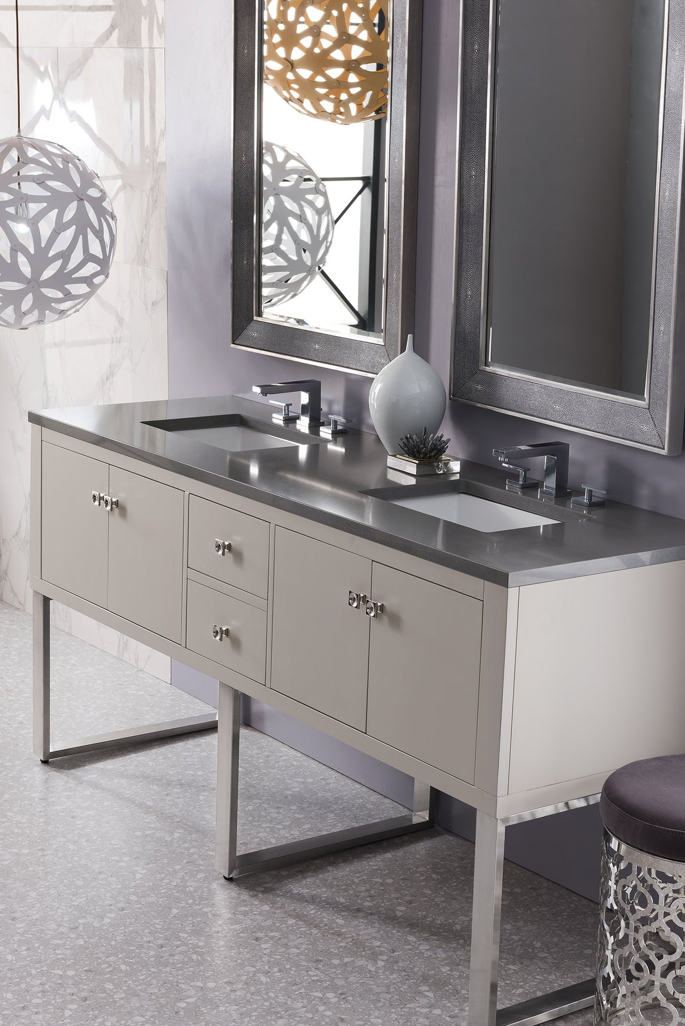 "Westlake 72"" Double Bathroom Vanity, Mountain Mist"