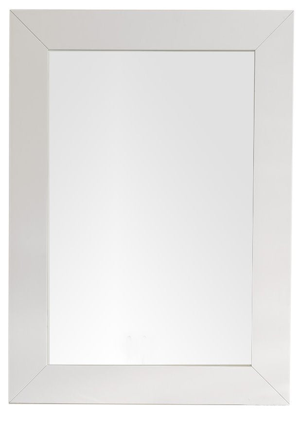 "Weston 29"" Rectangular Mirror, Bright White"