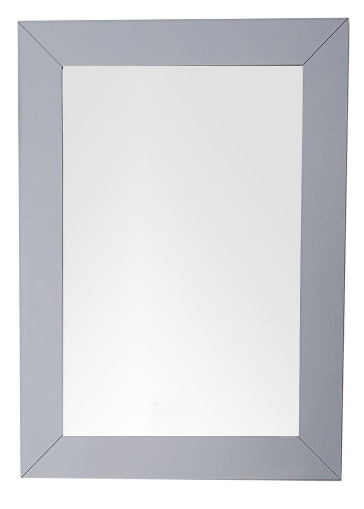 "Weston 29"" Rectangular Mirror, Silver Gray"