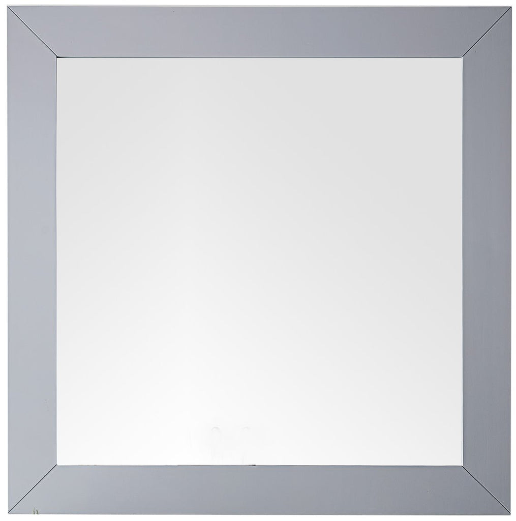 "Weston 40"" Rectangular Mirror, Silver Gray"