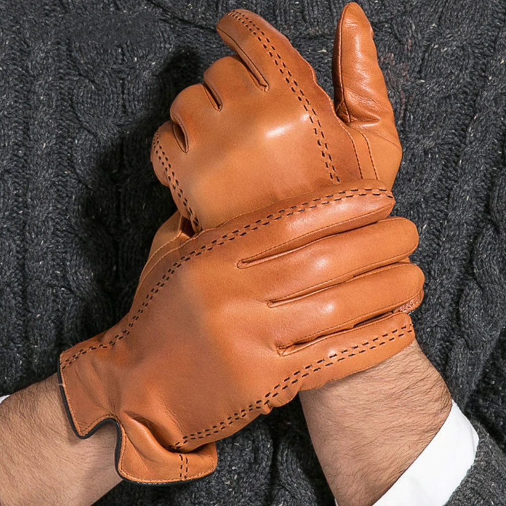 Gentleman's Leather Gloves (Camel Color)