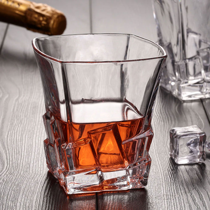 Ice-cut Crystal Glass (Set of 2)