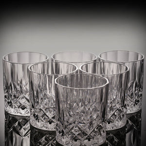 Rock-cut Crystal Glass (Set of 2)
