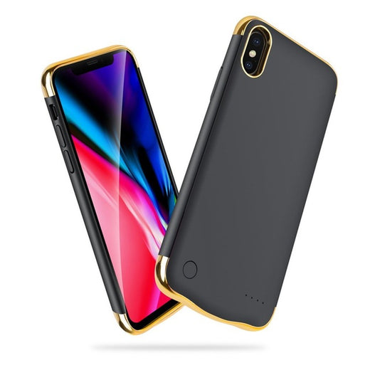 Coque Chargeur iPhone X Or
