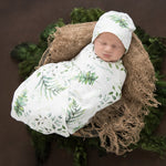 Enchanted Baby Jersey Wrap and Beanie Set