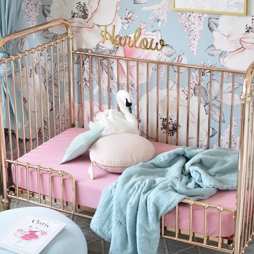 Rouge Pink Fitted Cot Sheet