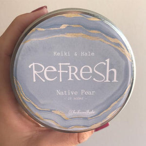 """Refresh""  Native Pear Candle by Keiki & Hale"