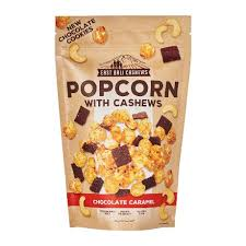 Chocolate Caramel Popcorn  With Cashews 90g