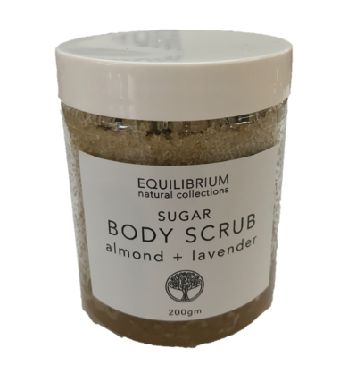 Natural Body Scrub Sugar Almond + Lavender 200G