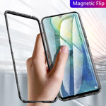 Galaxy A70s Electronic Auto-Fit Magnetic Transparent Glass Case