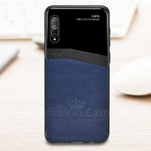 Load image into Gallery viewer, Galaxy A7 2018 Sleek Slim Leather Glass Case