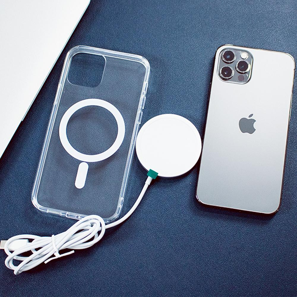 iPhone 12 Series Anti-Knock TPU Transparent MagSafe Case