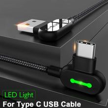 Load image into Gallery viewer, Mcdodo ® USB  90° Light Type C Data Cable
