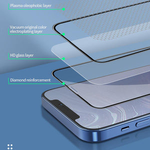Recci ® iPhone 12 Full Coverage Tempered Glass