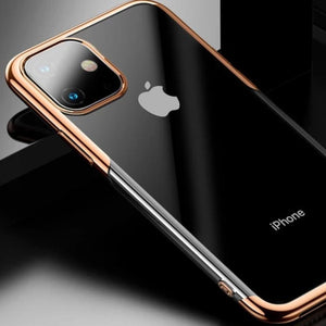 Ultra-Thin Transparent Sparkling Edge Case Cover For  iPhone 11