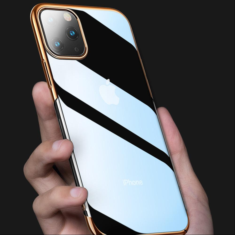 iPhone 11 Series Ultra-Thin Transparent Sparkling Edge Case