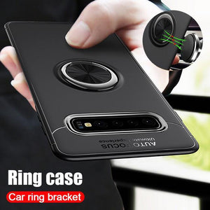 Galaxy Note 8 Metallic Finger Ring Holder Matte Case