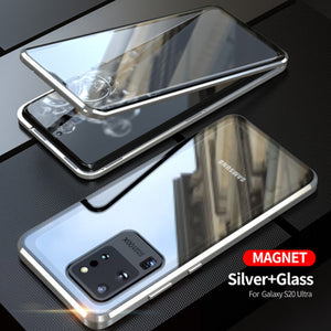 Galaxy S20 Ultra Electronic Auto-Fit (Front+ Back) Glass Magnetic Case