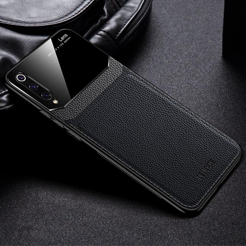 Galaxy A50 Sleek Slim Leather Glass Case