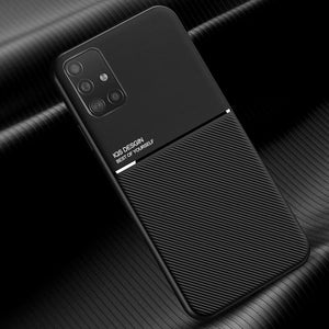Galaxy A71 Carbon Fiber Twill Pattern Soft TPU Case