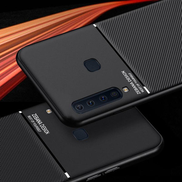 Galaxy A9 2018 Carbon Fiber Twill Pattern Soft TPU Case