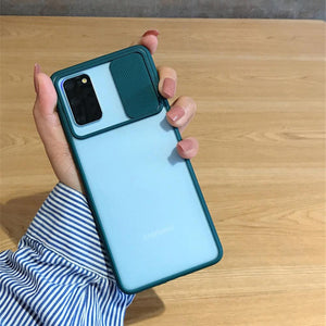 Galaxy M21 Camera Lens Slide Protection Matte Case