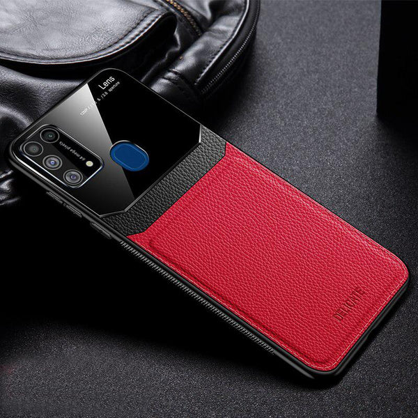 Galaxy M31 Sleek Slim Leather Glass Case