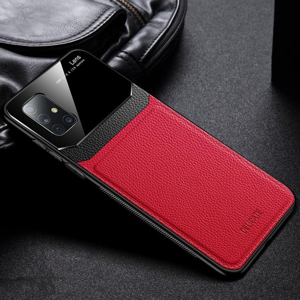 Galaxy M51 Sleek Slim Leather Glass Case