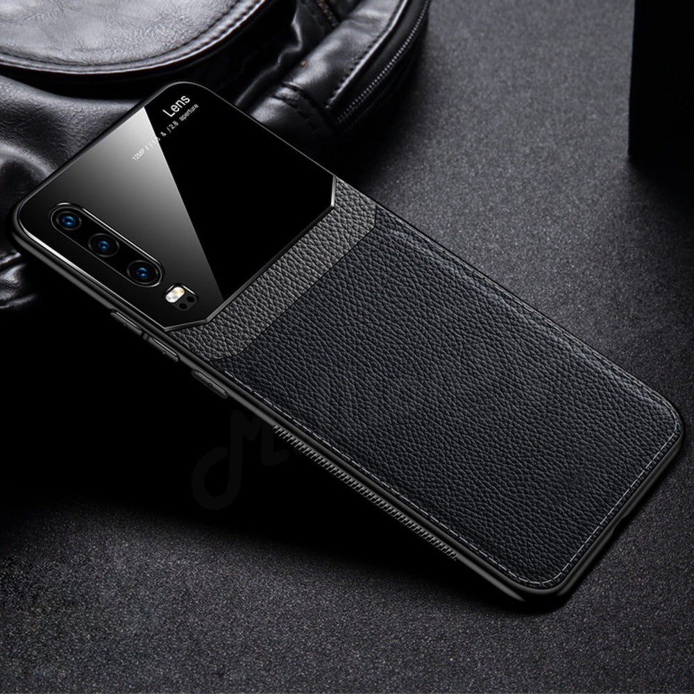 Galaxy A70 Sleek Slim Leather Glass Case