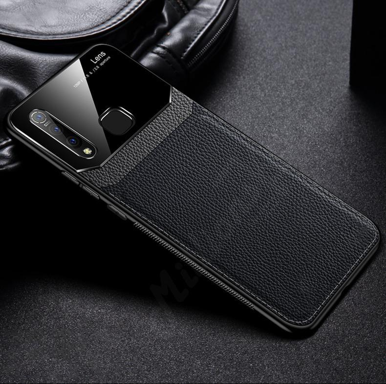 Galaxy M30 Sleek Slim Leather Glass Case