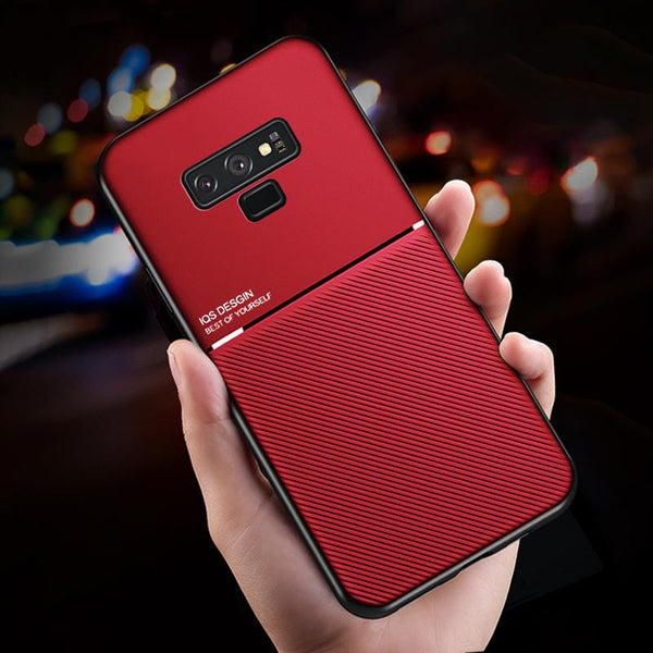 Galaxy Note 9 Carbon Fiber Twill Pattern Soft TPU Case