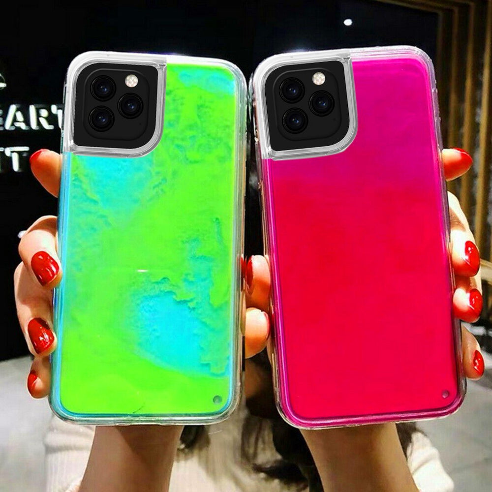 Glitter Luminous Neon Sand Case Cover For iPhone 11