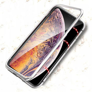 Apple Series Electronic Auto-Fit Magnetic Transparent Glass Case